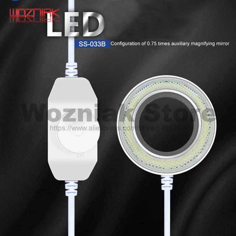 Wozniak SS 033B Microscope light source Ring light source White light source Lampshade Switch control 110V 220V