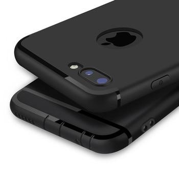 Étui pour iPhone en silicone souple mat de luxe 6s 6 6s Plus 5 5s 6 bonbons couverture complète pour iPhone 7 8 X étui Plus coques de téléphone