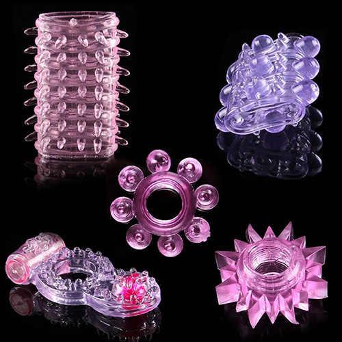 5 Pcs SpikeแหวนอวัยวะเพศชายCockแหวนEjaculation DelayอวัยวะเพศชายCockringกระตุ้นของเล่นเพศผู้ใหญ่ผลิตภัณฑ์สำหรับผู้ชายshop
