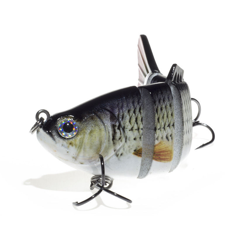 1Pcs 12cm Live Target Yearling Fishing Lures Jerkbait Bass Crankbait Bait Ball 3D Minnow Plastic Hard Wobblers 2#Hook Bass Bait