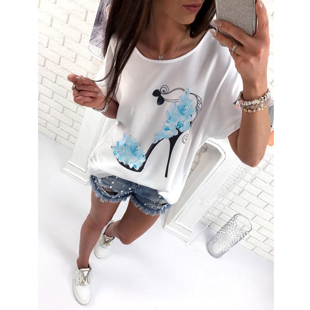 T-shirt manches courtes fleurs 2