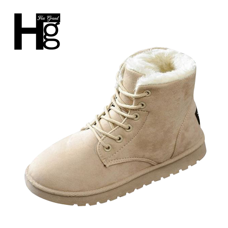 HEE GRAND 2017 Whole Sale Winter Snow Boots Shoes Women Warm Plush Thick Heel Fashion Drop Shipping Ankel Ladies Boots XWX6419