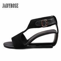 Jady Rose 2017 Summer Women S Sandals Genuine Leather Footwear Female Wedding Shoes Woman Gladiator Strange