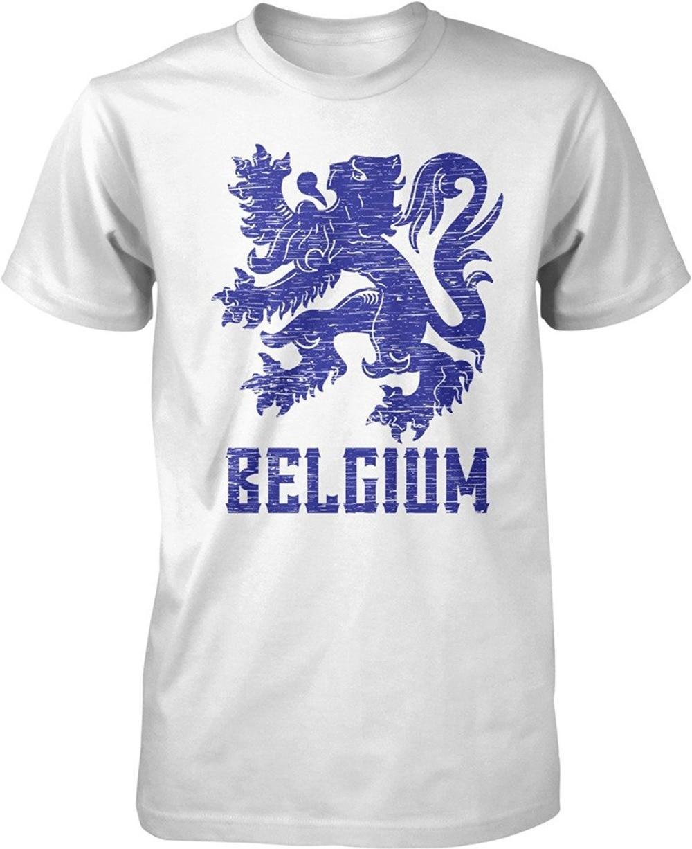 Custom T Shirts Cheap Design Men Belgium Coat Of Arms Leo Belgicus