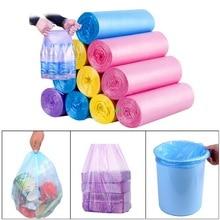30 шт/рулон Удобный мешок для кухонного мусора Одноцветный утолщенный обрыв одноразовый мешок для очистки отходов пластиковый мешок для мусора 45*55 см