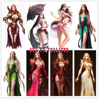 DIY Game Portrait Beauty Girl Full Diamond Painting Cross Stich Embroidery Handwork For Home Decor