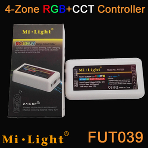 MiLight RGBWW (RGB + холодный белый + теплый белый) контроллер DC12-24V 2Ax5CH + 2,4G RF беспроводной RGB + CCT 4-зонный Сенсорный пульт + WiFi iBox1