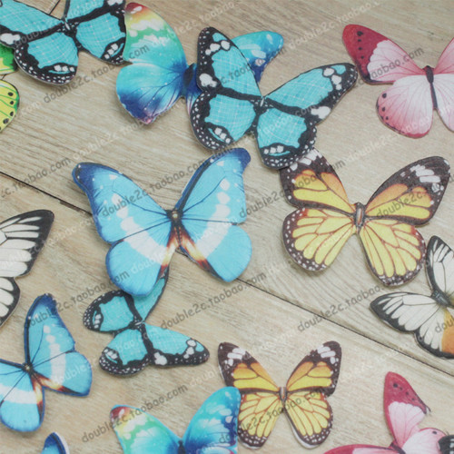 30 Pre-Cut or Rose Comestible Papillons Butterfly Cupcake Toppers