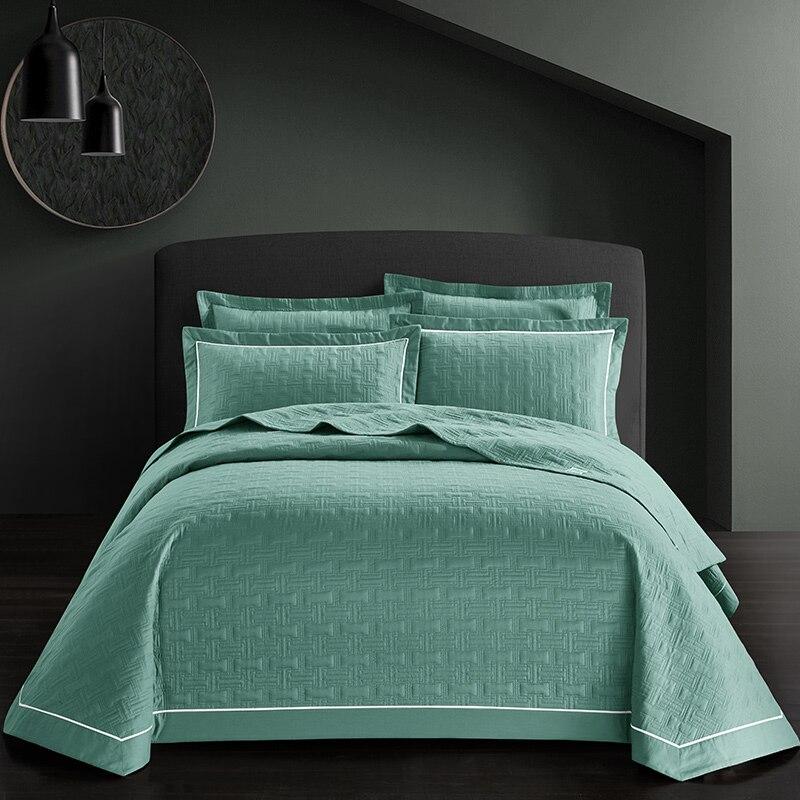Ambitieus 3 Stks Quilt Katoen Bed Gespreid Sprei Queen Size Bed Cover Set Matras Topper Deken Kussensloop Couvre Lit Colcha De Cama