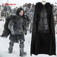 VEVEFHUANG Game of Thrones Cosplay Jon Snow Costume Night's Outfit Adult Men Cosplay Costume Halloween Party Carnival Costumes