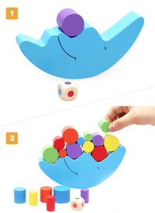 Image 5 - Moon Balance Game Baby Early Learning Toy For Children Wooden Toys Balancing  Colorful Blocks Baby Educational Toys