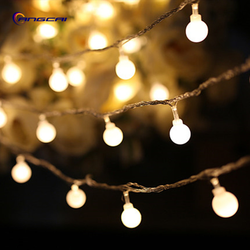 1/2/3/4/5/10M 33FT Multicolor Matte Small Ball LED String Wedding Patio Outdoor Party Fairy Christmas Light Garland
