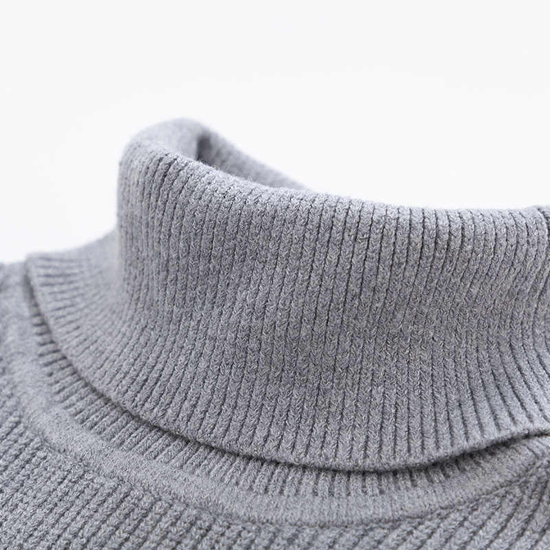 SEMIR Winter Warm Turtleneck Sweater Men Double Collar Fashion Solid Knitted Mens Sweaters 2018 Casual Male  Slim Fit Pullover