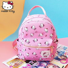 1452e3613 Hello Kitty Cute Cartoon Bag Kawaii Pink hellokitty Fashion Women Single  Shoulder PU Waterproof Girl Schoolbag