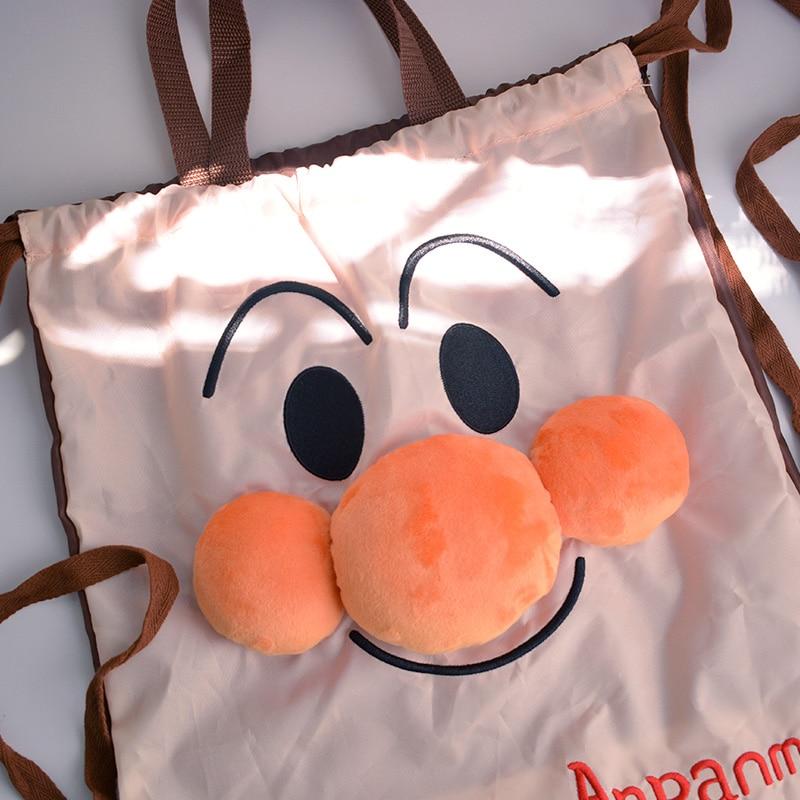 cool 1PCS Anpanman Fashion Anime Portable Drawstring Bags Foldable Travel storage Bag oxford Luggage Pouch Backpack