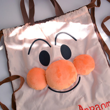 cool 1PCS Anpanman Fashion Anime Portable Drawstring Bags Foldable Travel storage Bag oxford Luggage Pouch Backpack NEW