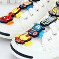 1 unids alta calidad pvc lindo de la historieta de star wars avengers encanto del zapato decoración hebilla clips accesorios cordones de los zapatos de tenis infantil