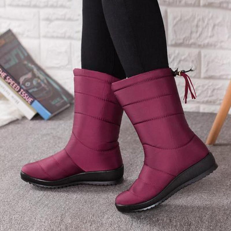5100accf1 ... женские брендовые зимние сапоги женские, сапоги до середины икры,  зимняя обувь для девочек, ...
