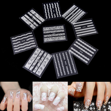 30 Sheets White Lace  Necessary Nail Stickers 3D Mix Design Water Transfer Nail Stickers Random Nail Art Decals DIY Decoration