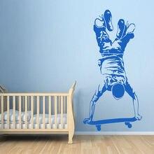 Skater Boy Wall Sticker Skateboarding Decal Vinyl Kids Bedroom Extreme Sports Wallpaper Skateboard  Poster Z054