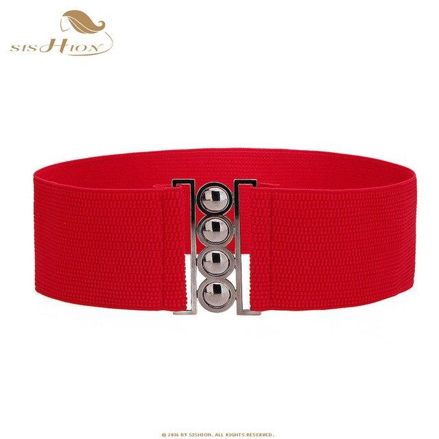 c5f0a0be90e SISHION large femme dames ceinture ceinture femme 64-85 cm ceinture  élastique pour femmes noir