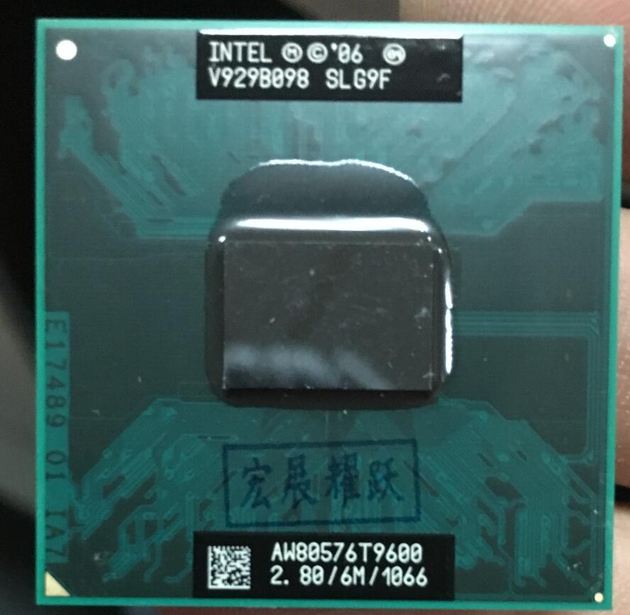 Processeur d'ordinateur portable Intel Core 2 Duo T9600 CPU PGA 478 cpu 100% fonctionnant correctement