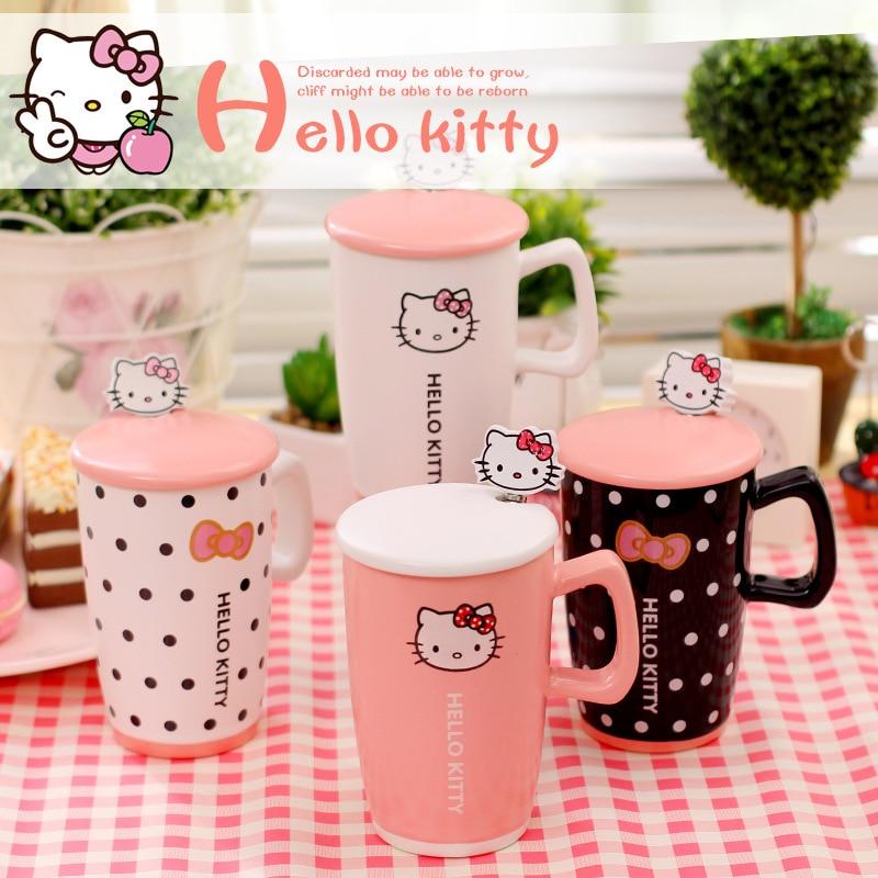 Hello Kitty Kitchen Cafe Manual: ᗜ LjഃMejor Precio Creative Kawaii Dibujos Animados Tazas