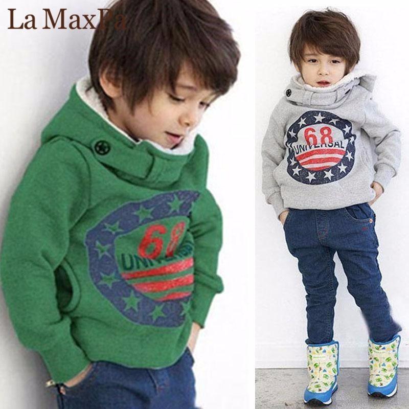 Baby Boys Clothes 2-7Y Toddler Kids Long Sleeve Cartoon Hooded Sweatshirt Coat Outfit Clothing