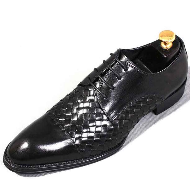 Tressé De Formelles Robe Hommes Mans Cuir Armure D'affaires Main Chaude En Richelieus Noce Chaussures 1 2 wRExq8W1