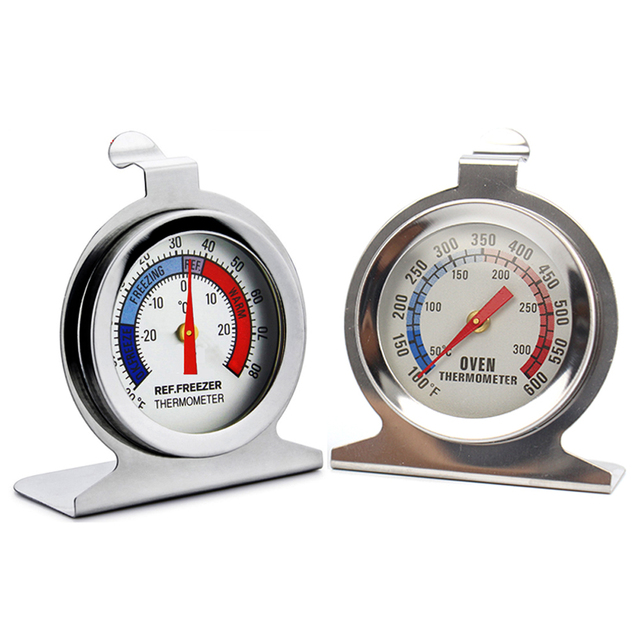 Stainless Steel Dial Refrigerator Freezer and Oven Thermometer for Kitchen Food Meat