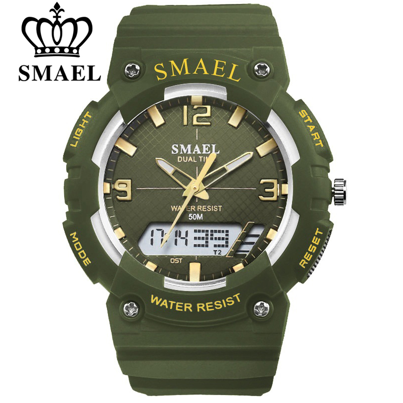 Smael Mens Watch Waterproof Clock Quartz Wristwatch Life Leisure Watch Student Man Fashion
