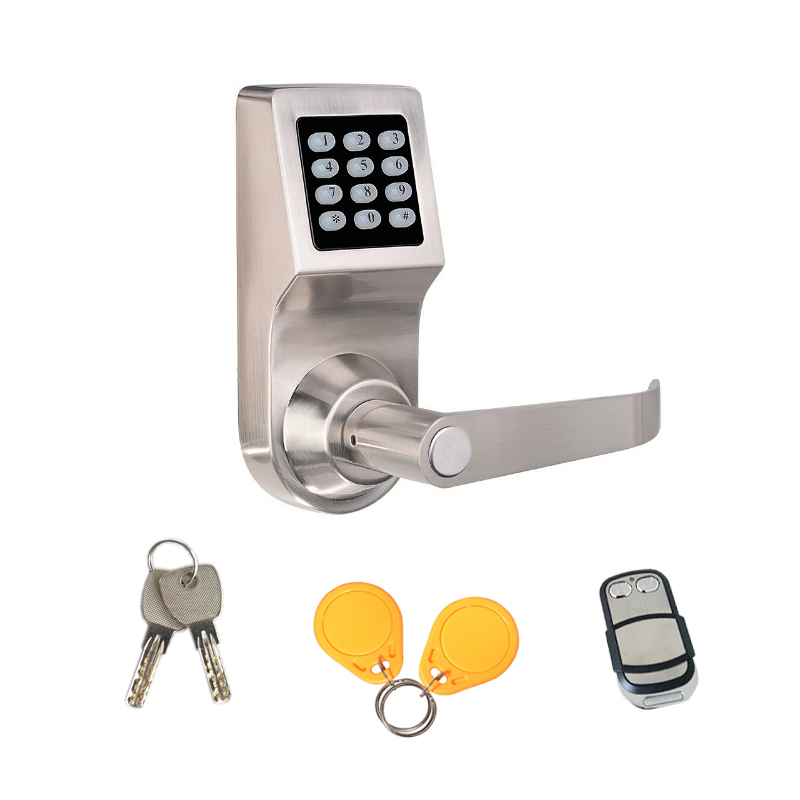 Free Shipping Full Metal Keypad Code Password RFID Remote Unlock Spring Bolt Hide Key Smart Electronic Door Lock Support Battery password code sip door lock home intercom support remote dtmf