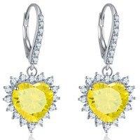 Citrine Earrings NOT FAKE Fine Jewelry Yellow Citrine Earrings S925 Sterling silver diamond Luxury Earrings custom jewelry