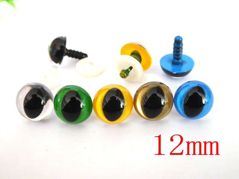 50pcs 12mm Plastic Safety Toy Cat Eyes For Plush Doll Accessories--color Option