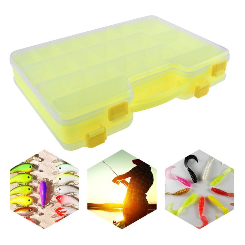 все цены на Fishing Lure Box Double Sided 44 Compartments Fishing Lure Square Fish hook Box Spoon Hook Bait Tackle Storage Box Case