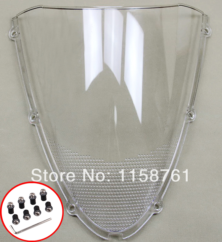FREE SHIPPING Clear Windshield Windscreen For Kawasaki ZX6R 636 2005 2006 2006 2007 2008 New aftermarket free shipping motorcycle parts eliminator tidy tail for 2006 2007 2008 fz6 fazer 2007 2008b lack