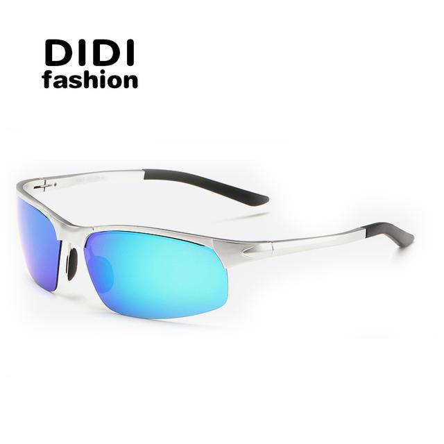 DIDI Cat Eye Multi Mens Óculos Polarizados Esporte Óculos De Sol Da Marca Designer Óculos Noite Condução Militar Goggles Oculos de sol H255