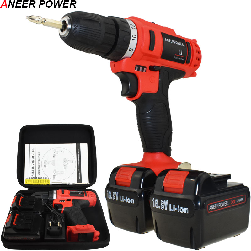 16.8v Electric Screwdriver 1.5Ah Battery Capacity Drill Power Tools Electric Drill Batteries Screwdriver Mini Cordless Drill handheld electrical drill charger electric grinder mini electric screwdriver power tools with power wire and screwdriver set