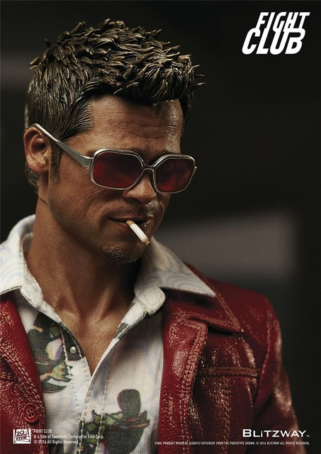 699cc21e55 Estartek BLITZWAY BW-FC00324 1 6 Fight Club Brad Pitt Red Jacket Ver  Colleciton Action Figure for Fans Kids Holiday Gift