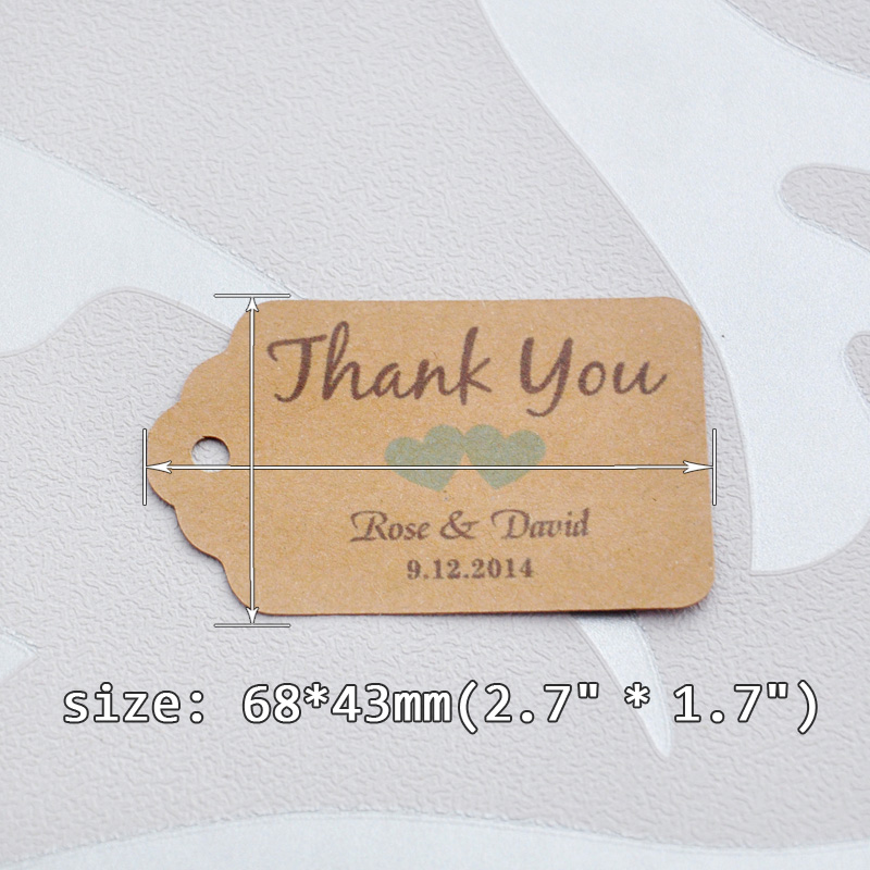 Online Shop Personalized Thank You Wedding Tags With 6 Colors Heart Can Choose Paper Favor Gift