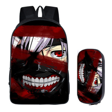 2PC Set Tokyo Ghoul with Pencil Case Student Backpack