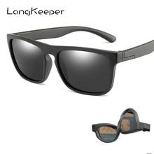 New Square Mirror Polarized Kids Sunglasses Children Safety Silicone TR90 Goggle