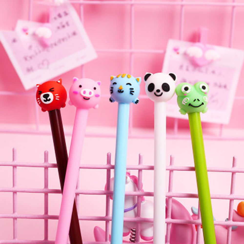 0.5mm Cartoon Dier Gel Pennen Leuke Varken Kat Panda Gel Pen Handtekening Pen Kantoor School Stationery Papelaria Escolar
