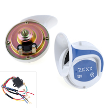 12V 115dB Classical Snail Style Auto Car Vehicle Speaker Alarm Tone Siren Horn Kit for Boat Motor Motorcycle Truck