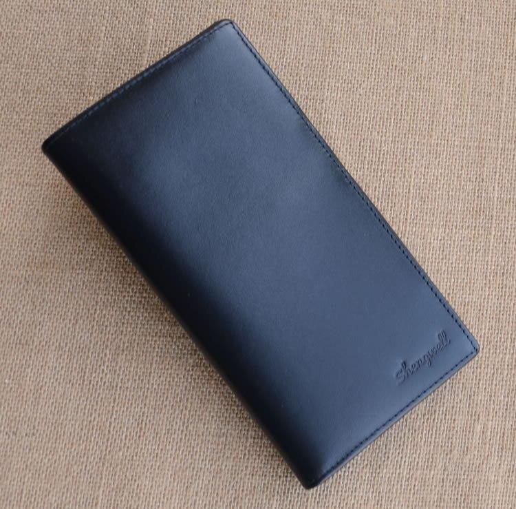 남자를위한 SHENGWELL 남자 지갑 진짜 가죽 긴 클러치 슬림 조직자 지갑 최고 쇠가죽 채찍 지갑 지갑