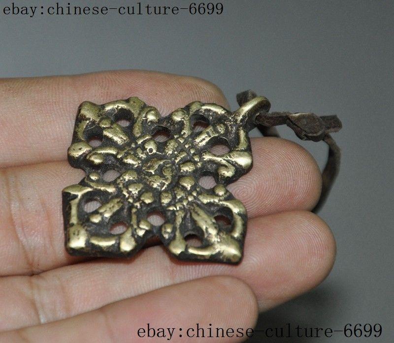 4pcs Natural clear Quartz crystal buddhist amulet VAJRA dorje Healing Pendant