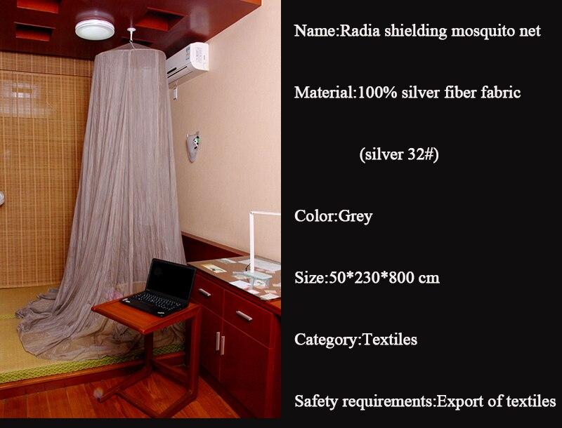 100% prata revestida rf emf que protege o dossel
