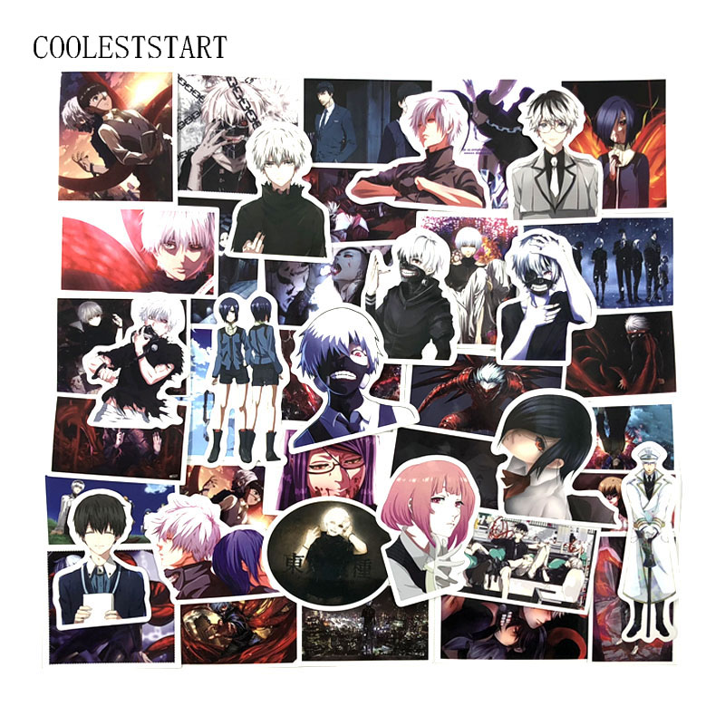 50PCS/set Tokyo Ghoul Graffiti Japan Classic Anime Stickers For Laptop Luggage Car Skateboard Phone Decal Sticker Car Styling