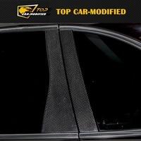 Бесплатная доставка автомобиля Запчасти Авто углерода Волокно украшения B столб 10 шт./компл. для Porsche Cayenne
