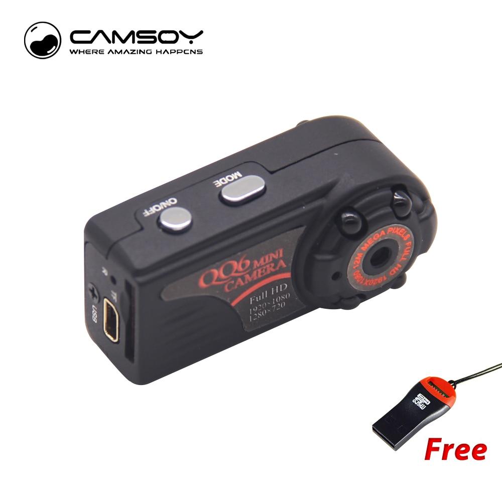 qq6 mini camera full hd 1080p wide angle micro camera with. Black Bedroom Furniture Sets. Home Design Ideas